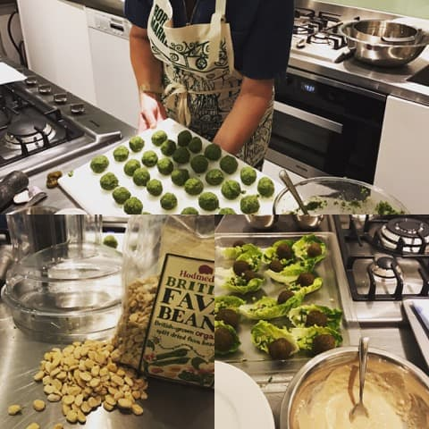 Falafels made with English-grown fava beans